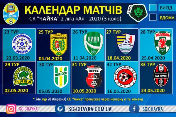 Календар-Матчів-2020-Другої-Ліги-груп-А-3-коло